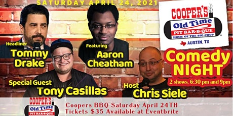 Coopers BBQ Comedy Show boletos