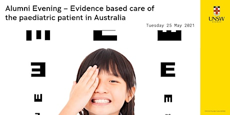 Alumni Evening: Evidence-based care of the paediatric patient in Australia tickets