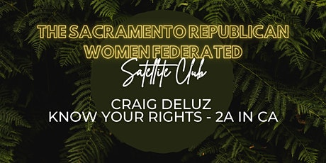 Craig DeLuz Know Your Rights: 2A in CA tickets
