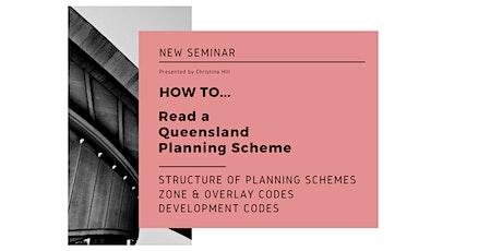 How to Read Queensland Planning Schemes tickets
