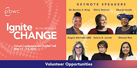 Professional BusinessWomen of California 2021 Virtual Conference Volunteer tickets