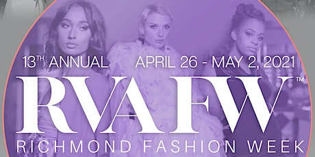 RVAFW Designer Fashion Show - Spring 2021 tickets