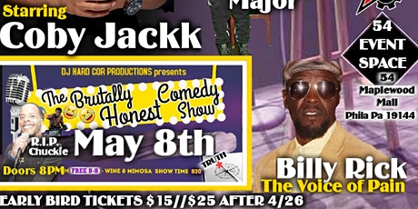 The Brutally Honest Comedy Series May 8th tickets