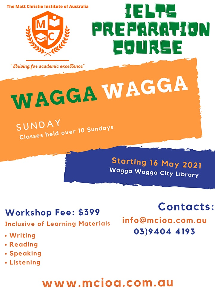IELTS Preparation Course Wagga Wagga image