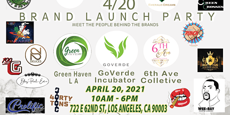 GoVerde Incubator 420 Cannabis Brand Launch Release Party tickets