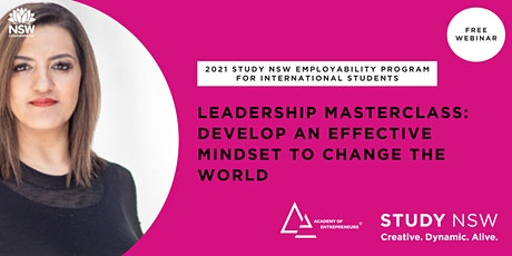 Leadership Masterclass: Develop an effective mindset to change the world tickets