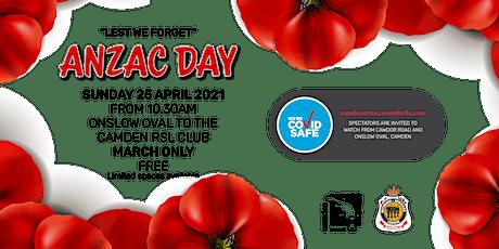 Camden ANZAC Day March 2021 tickets