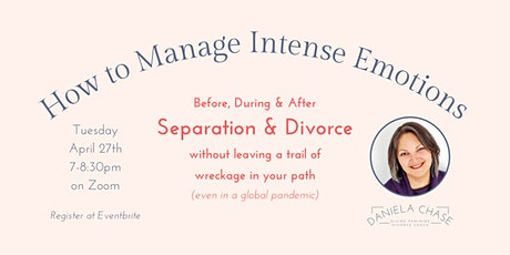 How to Manage Intense Emotions Before, During & After Separation & Divorce tickets