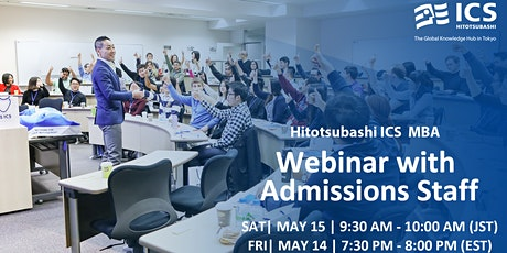 Hitotsubashi ICS Webinar with admissions staff tickets
