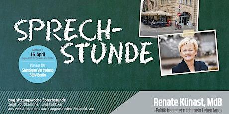 bwg sitzungswoche Sprechstunde: Renate Künast MdB tickets