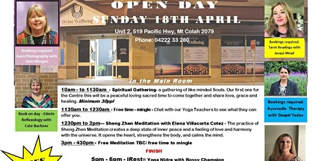 Divine Wellbeing Centre Open Day - April 2021 tickets