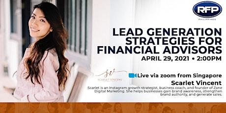 Lead Generation Strategies for Financial Advisors tickets