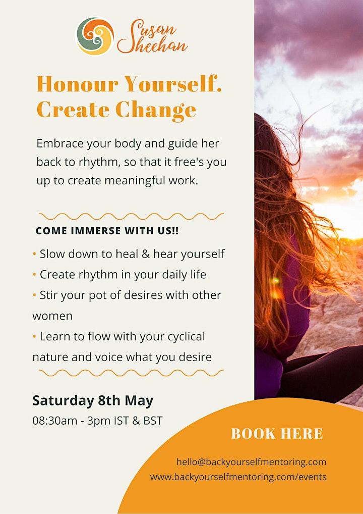 Honour Yourself. Create Change. image
