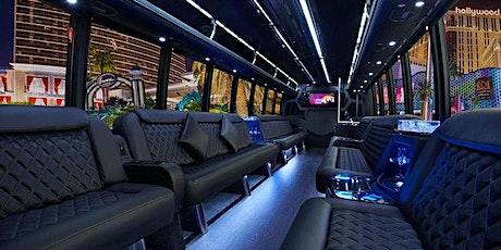 #1 Party Bus in Las Vegas! FREE Open Bar (Black  Interior Bus) tickets