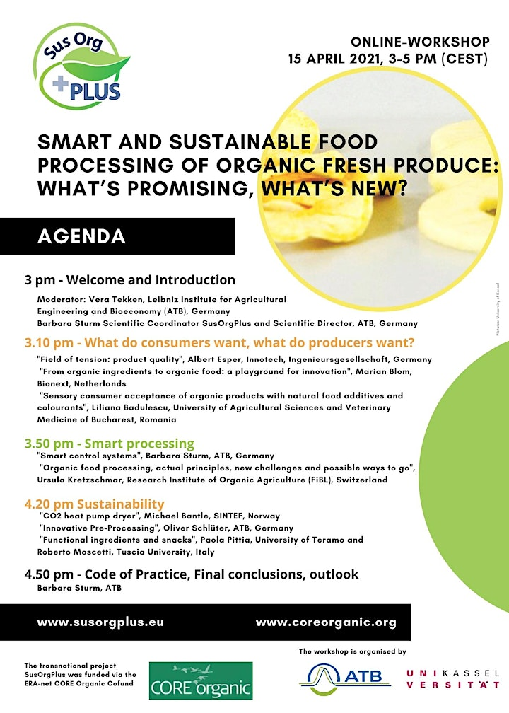 Food processing of organic fresh produce: What's promising what's new? image