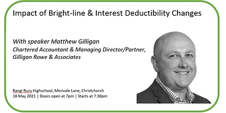 Impact of Bright-line & Interest Deductibility Changes tickets