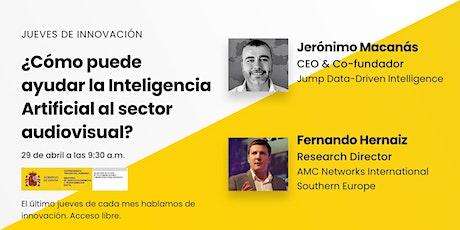 ¿Cómo puede  ayudar la Inteligencia Artificial al sector audiovisual? boletos