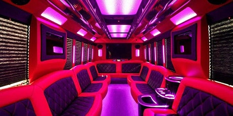 New  Party Bus Company  in Las Vegas! FREE Open Bar (Red  Interior Bus) tickets
