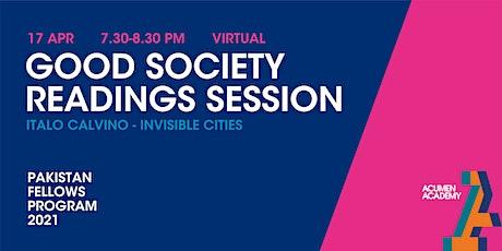 Good Society Readings Session - Calvino tickets