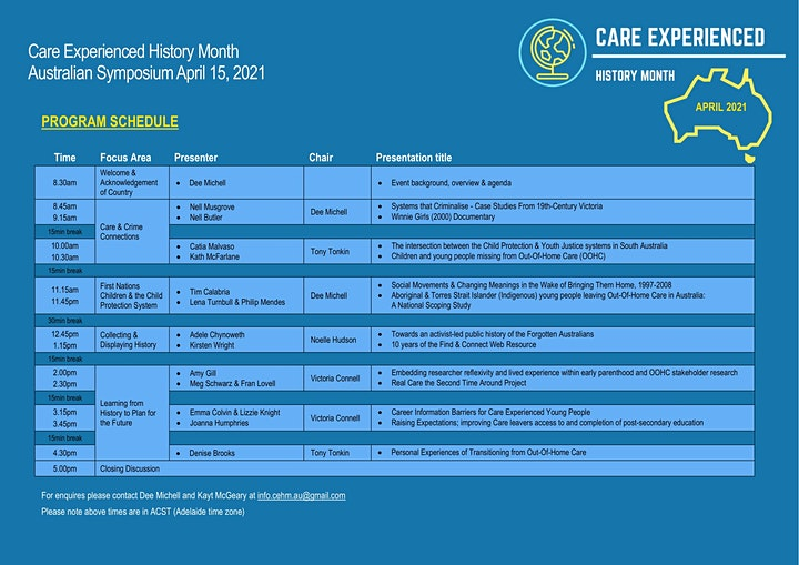 Care Experienced History Month Australian Symposium image