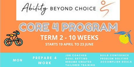 NDIS - Core4 Monday Program tickets
