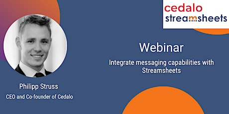 Integrate messaging capabilities with Streamsheets tickets