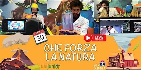 """Laboratorio """"CHE FORZA  LA NATURA"""" in diretta streaming! biglietti"""