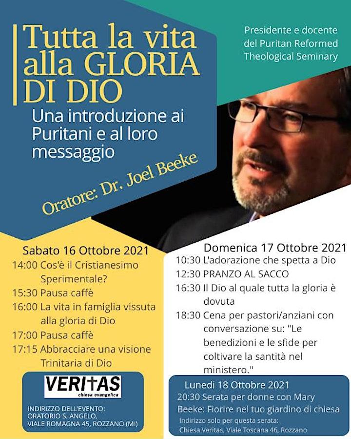 """Immagine Conferenza: """"Tutta la vita alla gloria di Dio"""""""