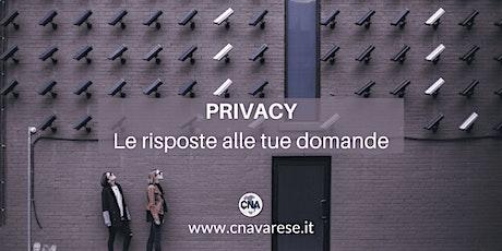 Privacy: le risposte alle tue domande biglietti