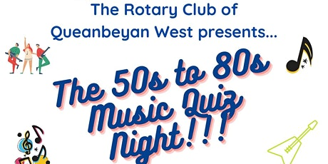 RCQW 50's to 80's Music Quiz Night tickets
