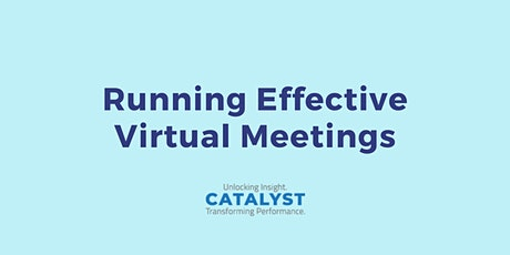 Running Effective (Virtual) Meetings training workshop tickets