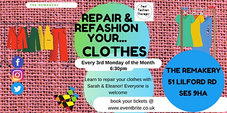 Repair and Refashion your Clothes tickets