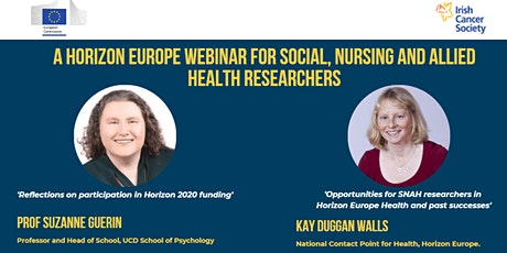 Horizon Europe Webinar for Social, Nursing and Allied Health Researchers tickets