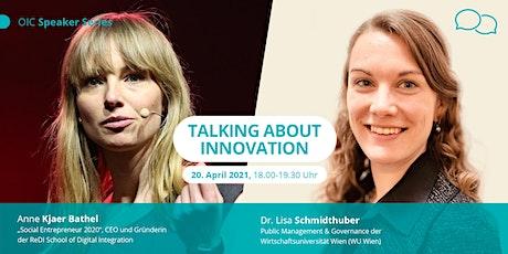 Talking About Innovation - Kickoff-Event der Speaker Series Tickets