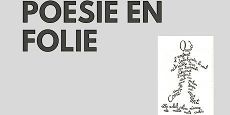 Poetry workshop Poesie en Folie tickets
