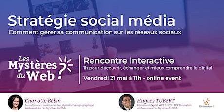 Stratégie social média:Gérer sa communication sur les réseaux sociaux |LMDW billets