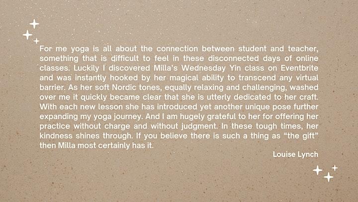 Weekly Virtual Yin Yoga image