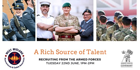 A Rich Source of Talent: Recruiting from the Armed Forces Community tickets