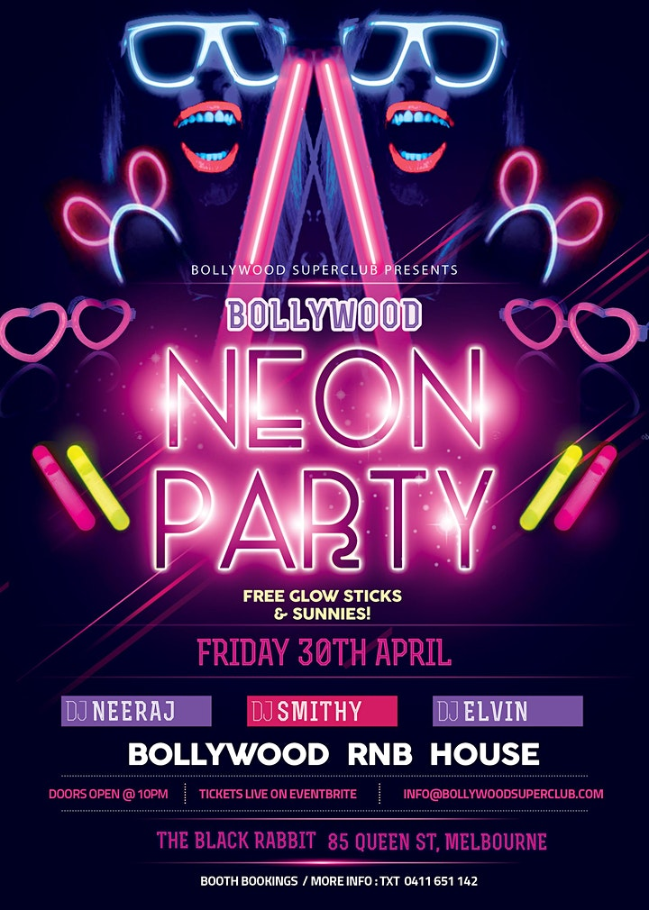Bollywood Neon Party image