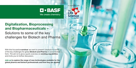 Digitalization, Bioprocessing and Biopharmaceuticals tickets