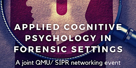 Applied Cognitive Psychology in Forensic Settings bilhetes