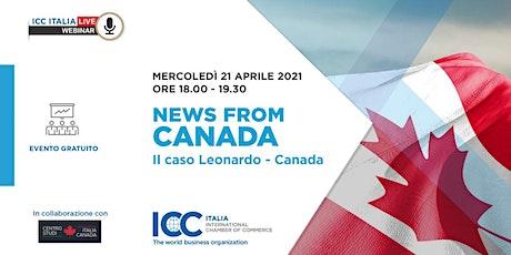 NEWS FROM CANADA   Il Caso Leonardo – Canada tickets
