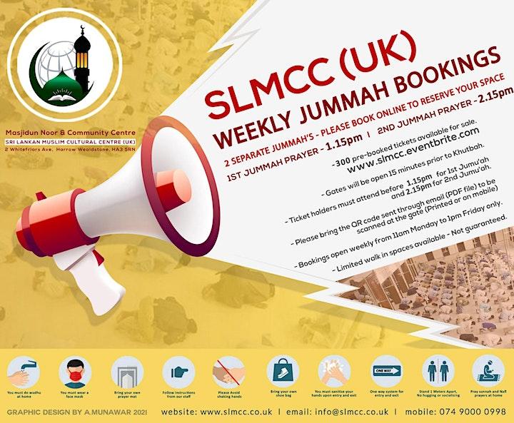 1st Jumu'ah Prayer|1.15 PM|18th June 2021|English|Sheikh Saifullah Nasser image
