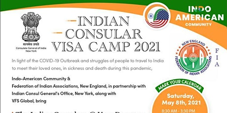 INDIAN CONSULAR  VISA SERVICES-2021 I NEW ENGLAND tickets