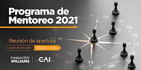 Programa de Mentoreo CAI - FW 2021 entradas