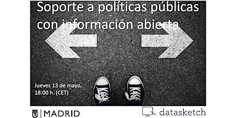 Soporte a políticas públicas con información abierta bilhetes
