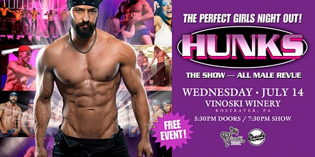 HUNKS - The Perfect Girls Night Out! tickets