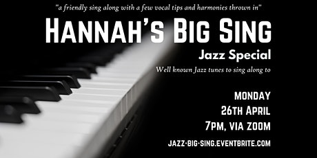 Hannah's Big Sing - Jazz Special tickets
