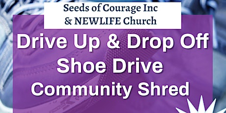 Drive Up and Drop Off Shoe Drive								 & Communit tickets