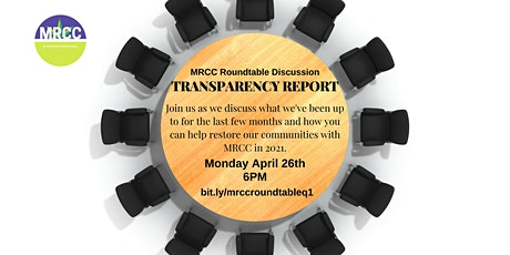 MRCC RoundTable Discussion: Quarterly Transparency Report tickets